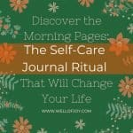 morning pages a self care journal ritual to change your life